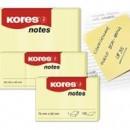Notes Adeziv 125 X 75 mm Galben Pal 100 File Kores