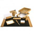 Set birou lux din lemn stejar, 10 piese - FORPUS