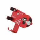 Suport din metal smartphone 4''-7'' pentru bicicleta, Spacer METAL-RED