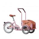 Bicicleta Triciclu pentru copii Pegas Mini Cargo 1S, Roz Bujor