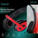 Casca cu microfon Spacer SPK-507, Chatting, Stereo, 3.5 mm