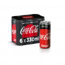Coca Cola Gust Zero Zahar, Doza, 6 X 330 ml