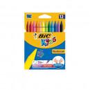 Creioane cerate BIC Kids Plastidecor 12 buc/set