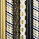 Hartie ambalaj 70 x 200 cm, 80g/mp, Black & Gold Rotolux