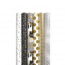 Hartie ambalaj metalizata, 70 x 150cm, 74g/mp, Urban Style Rotolux