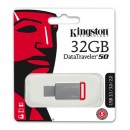 Kingston USB Flash Drive DT50/32GB- DataTraveler Speed2 USB 3.1/ 110MB/s read, 30MB/s write, 32GB, Metal