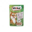 Kitekat Hrana umeda completa cu somon, pentru pisici, plic 100g
