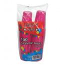 Pahare plastic Color pentru petreceri party, Safir Eco 200 ml, 100 buc/set