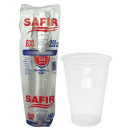 Pahare plastic Transparent Eco Safir 250 ml, 50 buc/set