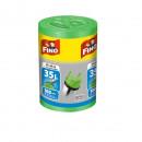 Saci menajeri cu maner Fino, 49 x 60 cm, 35L verde, 100 buc/rola