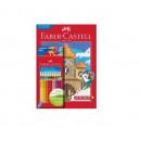 SET 24 CREIOANE COLORATE GRIP+CARTE COLORAT PIXEL FABER-CASTELL