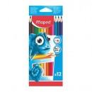 Creioane colorate Maped Pulse 12 culori/set