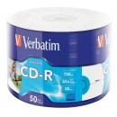 CD-R, 700MB, 52X,50 buc/bulk, VERBATIM Extra Protection