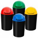 Cos gunoi cu capac batant 12 litri, culori selectiv