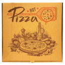 Cutie Pizza D32 x 32 x 3.5 cm Kraft Hot Pizza