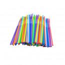 Paie plastic color flexibile Jumbo 230 x 7 mm, 50buc/set