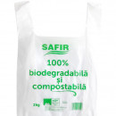 Pungi cu maner, 2Kg, Biodegradabile & Compostabile 100buc/set