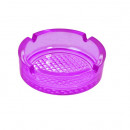 Scrumiera din sticla violet transparent, Ashtray 105 x 40 mm
