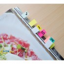"Stick index hartie color 50 x 12 mm, 9 x 50 file/set, Stick""n - 9 culori neon"