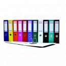 Biblioraft A4, plastifiat PP/paper, margine metalica, 75 mm, Optima Basic - alb