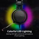 Casti gaming Tronsmart Glary Virtual Surround 7.1, Lumini LED, port USB pentru Nintendo Switch/PS4