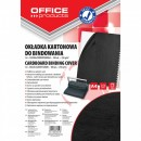 Coperta carton imitatie piele 250g/mp, A4, 100/top Office Products negru