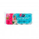 Hartie igienica Perfex Cotton Like parfumata, 3 straturi, 10 role, 200 foi
