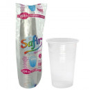 Pahare plastic Transparent Safir Standard 250 ml, 50 buc/set