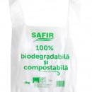 Pungi cu maner, 4Kg, Biodegradabile & Compostabile 100buc/set
