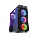 Carcasa Gaming Spacer Titan cu 4 coolere RGB + Telecomanda, panou sticla