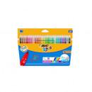 Carioci colorate ultralavabile Bic Kid Couleur, 24buc/set