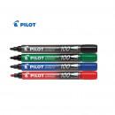 Marker permanent Pilot 100, varf rotund, negru