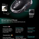 Mouse Optic Spacer 800 Dpi, Usb, Negru