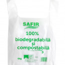 Pungi cu maner, 6Kg, Biodegradabile & Compostabile 50buc/set