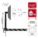 Suport birou 4World pt monitor LCD 10-32'' inclin/rotire/inalt. reglabila inc. 15kg