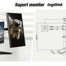 Suport birou pentru 2 monitoare LOGILINK 13''-32'', Vesa 100 x100, max 16 kg