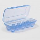 Suport plastic transparent pentru 10 oua, sterk