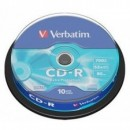 VERBATIM CD-R 52X 700MB SP10/PK EXTRA PROTECTION