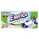 Hartie igienica Emeka, 3 straturi, 8 role diverse arome