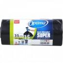 Saci menaj 35L, 15 buc, 50x 70 Sano Optima Super LDPE negru