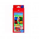 Acuarela 12 culori, 24 mm + pensula, FABER-CASTELL