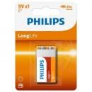 Baterie Philips LongLife 9V 1-blister