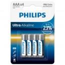 Baterii Philips Ultra Alkaline AAA,4 buc