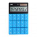 Calculator Birou Deli Modern Touch 1589, 12 digiti, albastru