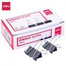 Clips metalic 25 mm Deli 12 buc/cut