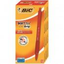 Pix Bic Soft Feel Clic Grip rosu cu mecanism