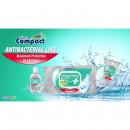Servetele Umede Antibacteriene, Igienizante lemon, cu capac, 40 bucati Compact