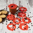 Set 8 forme decorare cafea/cappuccino 8.5 cm Vanora