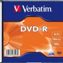 Verbatim DVD-R 16X 4,7GB AZO, Slim Case (43547)