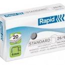 Capse 26/6, 1000 bucati/cutie, RAPID Standard